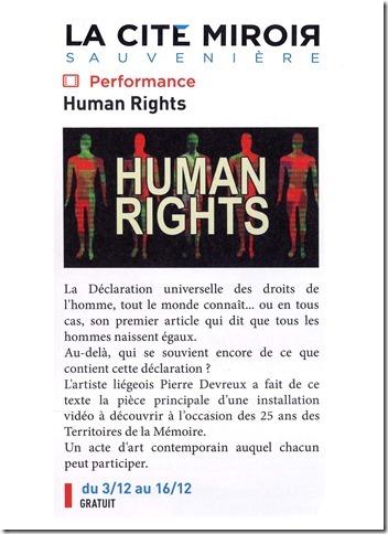 Affiche human rights Pierre Devreux